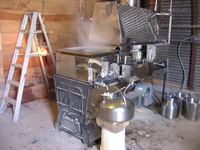 Our new maple syrup evaporator